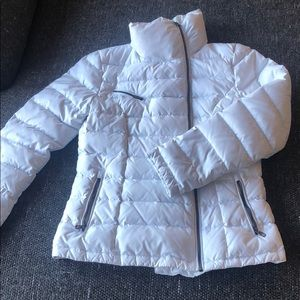 COLE HAAN DESIGNER DOWN WHITE FITTED PUFFER COAT